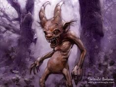 Drekavac: A Slavic creature that screams in the night and has been said to wander the Zlatibor Mountains and mutilate sheep. Sightings have been recorded as recent as 2003. Illustration: Spektralni Drekavak from izvorimagijc.com: Magical Creatures, Fantasy Creatures, Lago Ness, Eslava, Myths & Monsters, Legends And Myths, Legendary Creature, Norse Mythology, Russian Mythology