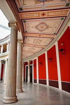 Inside the Zappeio, Athens, Greece My Athens, Athens City, Athens Greece, Amazing Architecture, Architecture Details, Beautiful Islands, Beautiful Places, Greece Today, Bauhaus