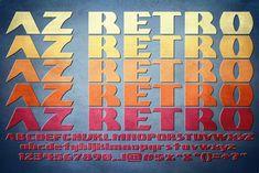 AZ Retro ~ Sans Serif Fonts on Creative Market