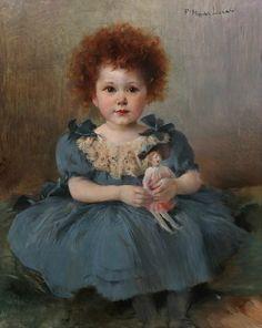 Marie Félix Hippolyte Lucas, Petite fille à la poupée de chiffon