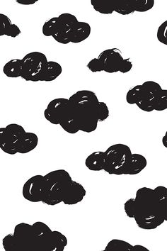 Black and white painted clouds by littlesmilemakers.  Available on fabric, wallpaper, and gift wrap.  Perfect for baby leggings or a nursery wall.