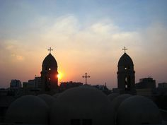 Cairo, Egypt Domes of St.Markos Church in Perspective. Cool Places To Visit, Places To Travel, Modern Egypt, Egypt Travel, Vacation Pictures, Empire State Building, The Good Place, Taj Mahal, Tours