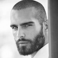 Buzz Cut with Thick Beard
