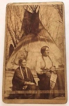 SITTING BULL CDV PHOTO BY W. R. CROSS - NATIVE AMERICAN