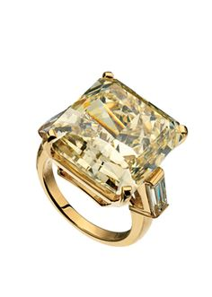 BVLGARI High Jewellery collection 29 Carat Fancy Yellow Square Cut Diamond Ring