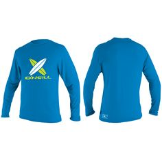 O'Neill Skins long sleeve rash tee toddler boys Blue on sale in the UK along with best deals on many other sportswear items available online..