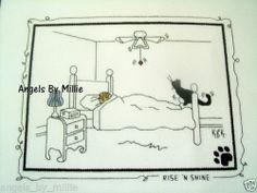Kats by Kelly Rise 'N Shine Cat Calico Crossroads Cross Stitch Pattern   eBay