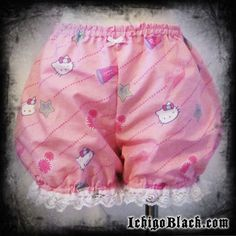 Hello Kitty Bloomers....so so cute!!  Pink hello kitty micro mini bloomers XS  M by ichigoblack on Etsy, $20.00