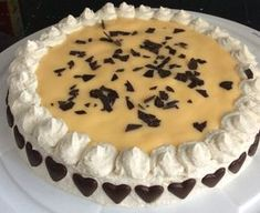 Eggnog cake with a juicy nut base from Gramalein Koch - . - Eggnog cake with a juicy nut base from Gramalein cook - Pie Recipes, Baking Recipes, Great Recipes, Dessert Recipes, Eggnog Pie, Eggnog Recipe, Low Fat Cake, Mini Pumpkin Pies, Traditional Wedding Cakes