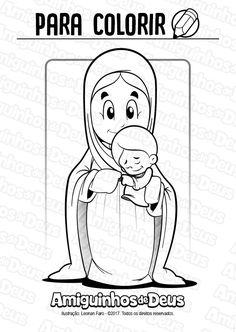 santa maria mãe de Deus desenho para colorir