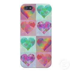 HEART RAINBOW DESIGN iPhone case cute abstract iPhone 5 Cover
