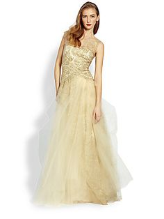 Notte by Marchesa Metallic Lace & Tulle Ball  (mother of the bride saksfifthavenue.com)