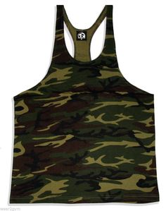 BODYBUILDING SPORT MUSCLE Y BACK STRINGER VEST PLAIN CAMO IN SIZES S,M,L,XL,