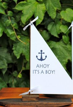 Ahoy it's a BOY!