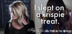 """I slept on a krispie treat..."" - Hanna 