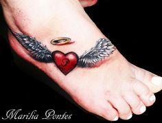 Heart ~wings tattoo