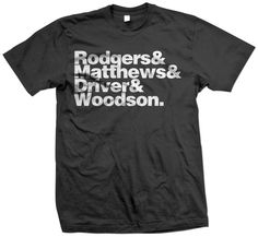 Green Bay Packers Lineup Tshirt by JimmyStrong
