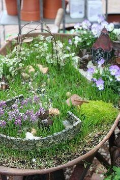 a fairy garden... a must!