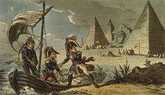 La fuite de Bonaparte, caricature anglaise, fin XVIIIe