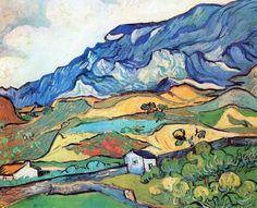 Us 1070 Wall Art Les Alpilles Mountain Landscape Near South Reme By Vincent Van Gogh Paintings On Canvas Handmade High Quality In Painting Amp Art Van, Van Gogh Art, Vincent Van Gogh, Desenhos Van Gogh, Van Gogh Landscapes, Landscape Paintings, Landscape Posters, Landscape Art, Van Gogh Pinturas