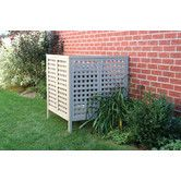 Perfect for hiding that unsightly heating and cooling unit! Found it at Wayfair - Equipment Cover