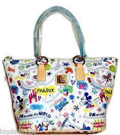 Disney Dooney & Bourke 2014 Run Disney Marathon Tote Purse Hand Bag NEW
