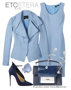 Etcetera Fall 2015: Boucle Dress and Jacket by timirac on Polyvore featuring polyvore, fashion, style, Ippolita and Etcetera