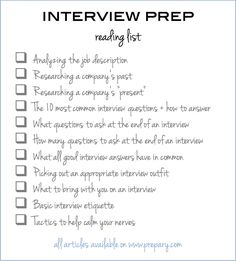 to prepare for an interview: Use this easy checklist The article you NEED to read if you have an upcoming interview (pin and save for later!)The article you NEED to read if you have an upcoming interview (pin and save for later! Interview Skills, Job Interview Questions, Job Interview Tips, Job Interviews, Preparing For An Interview, Interview Techniques, Job Interview Preparation, Business Casual Interview, Interview Dress