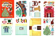 dollhouse christmas | Night Before Christmas Playbook, 1958- Cardstock (1394-FMN Playbook)