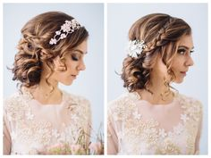 curly wedding updo ~ we ❤ this! moncheribridals.com