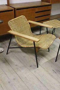 Carl-Aubock-LOUNGE-CHAIR-Basket-braid-steel-amp-wood-c1950