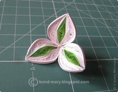 Master class Quilling Lilies mini-MC Paper Photo 9