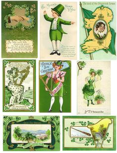 vintage st'patricks days cards