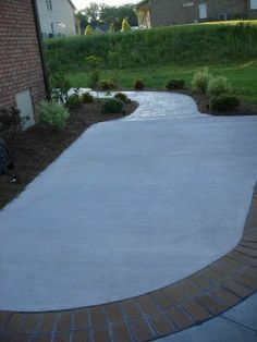 Concrete Patio With Brick Border | Atlantic Coast Concrete