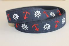 Adjustable Nautical Anchor D Ring Belt for Teens by PickledPreppy