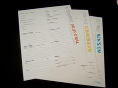 Course Proposal Form Re-Design (Massart) on Behance
