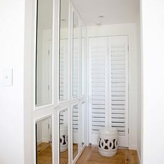 Mirrored Doors, Transitional, closet, Oliveaux closet doors hallway foyer