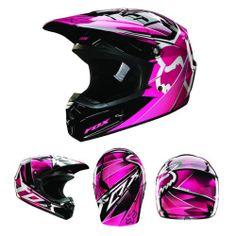 Fox Racing V1 Radeon Helmet Pink | eBay