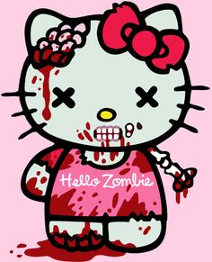 Hello+Kitty+Zombie+Women's+Tshirt++size+Large+by+Frenetique,+$15.00