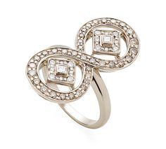 a82ae2cd249 Anel de ouro nobre com diamantes brancos e cognac - Coleção Jogo de Cartas H.  Stern