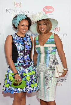 Gayle King & daughter Kirby Bumpus attend the Kentucky Derby in 2014 Beautiful Family, Beautiful Black Women, Beautiful People, Simply Beautiful, Celebrity Kids, Celebrity Photos, Celebrity Costumes, Celebrity Style, Black Celebrities