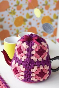 Granny Square Tea Cozy crochet diagram on Cut Out and Keep at http://www.cutoutandkeep.net/projects/tea-cozy