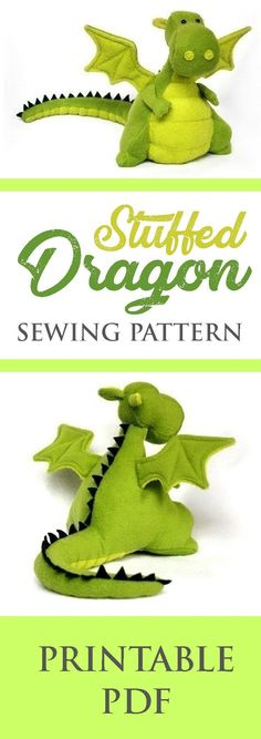 sewing gifts for kids Sew this cute DIY chinese dragon plush with its adorable fat little belly! This stuffed dragon sewing pattern project includes a detailed tutorial. Animal Sewing Patterns, Sewing Patterns Free, Free Sewing, Pattern Sewing, Craft Patterns, Sewing Stuffed Animals, Stuffed Animal Patterns, Felt Stuffed Animals, Sewing Toys