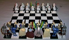 Clone Wars minifig chess set!