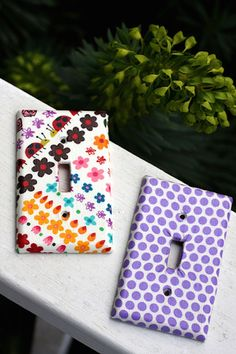 Use Mod Podge and fabric to completely makeover switchplates, turning them from boring to fun in just a few minutes.
