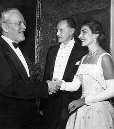 Maria Callas - Washington (1956) with Allen Dulles