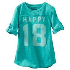 TLC Tunic with Roll Sleeves #happy #turquoise baby girl fashion