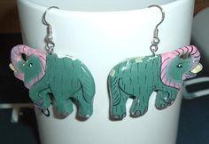 Photon$Mart$ VINTAGE ELEPHANT DESIGN DANGLE EARRINGS