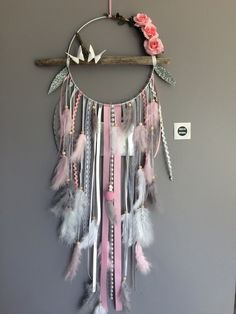 Boho dreamcatcher with driftwood