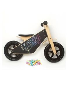 Balance Bike With Chalkboard Finish